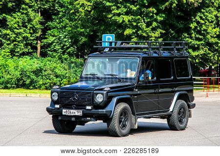 Moscow, Russia - July 7, 2012: Off-road Vehicle Mercedes-benz W461 G-class In The City Street.