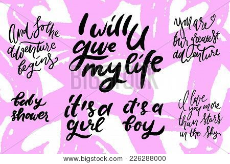 Baby Shower Quotes. Vector & Photo (Free Trial)   Bigstock