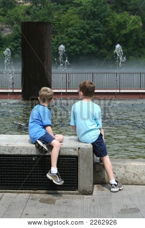 Brothers Look At Water