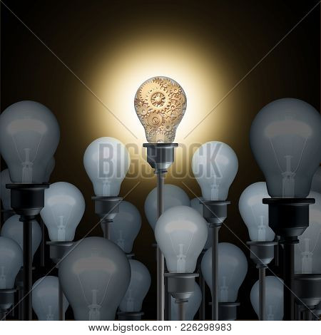Innovation Concept With Light Bulbs As A Business Or Industry Technology Ingenuity Idea And Inspirat