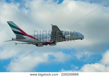 Dubai, Uae - December, 2016: Airbus A380