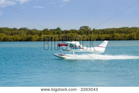 Seaplane Floatplane Takeoff