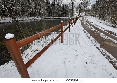 A Winter Landscape With Snow In Germany