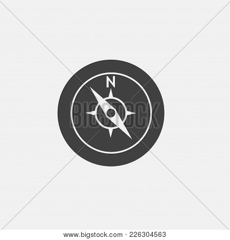 Compass Icon Vector Illustration. Travel Icon Vector