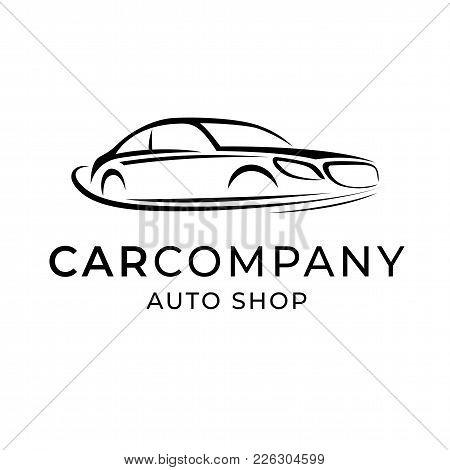 Auto Dealer Shop Template Emblem. Creative Logo Design For Car Service Brand Company, Symbol Vector
