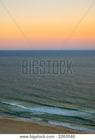 Surfers Paradise Ocean Sunset
