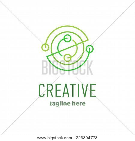 Geometric Abstract Logo Design, Vector Linear Icon Template. Corporate Business Technology, Symbol L