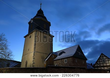 The castle church of Herleshausen in Hesse