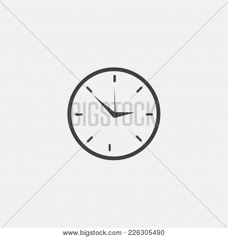 Clock Icon Vector Illustration. Time Icon Vector.