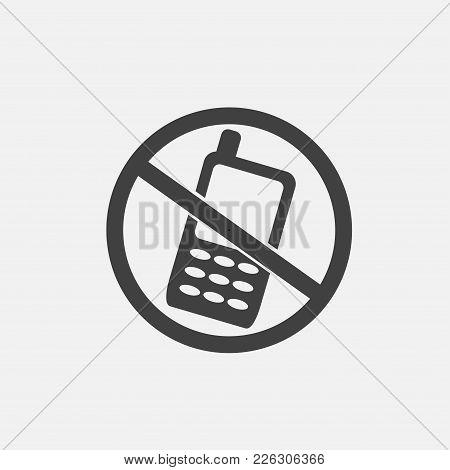 No Phone Icon Vector Illustration. Technology Icon Vector