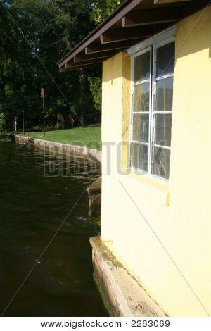 Boat House On Lake