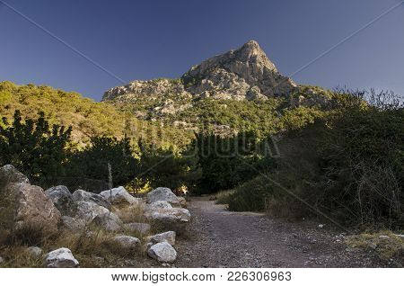 Lycian Trail In Turkey, In This Vengeance The Road Passes Through The Gorge From Which A Beautiful V
