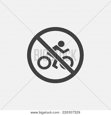 No Bicycle Icon Vector Illustration. Bike Icon Vector.