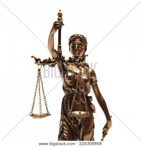 justice goddess isolated on a white background