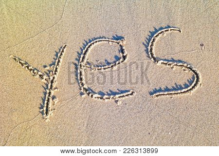 Yes Written In The Sand.