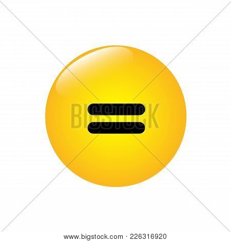 Equal Sign On The Yellow Shiny Button