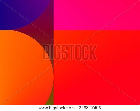 Abstract Red Pink Orange And Blue, Colorful Gradient Advertising Backgrou