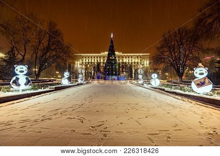 Rostov-on-don, Russia - January 19, 2018: Beautiful Government Building Of The Rostov Region And Chr