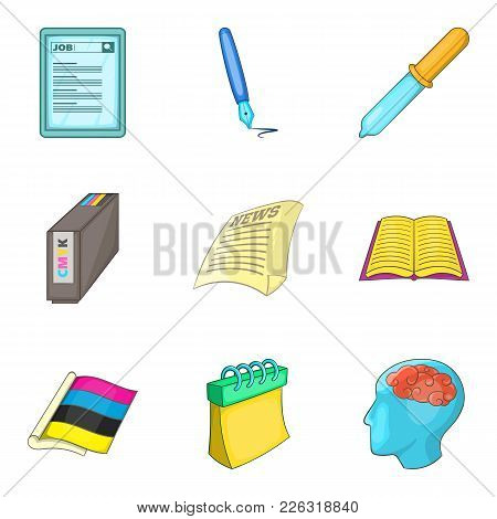 Organization Icons Set. Cartoon Set Of 9 Organization Vector Icons For Web Isolated On White Backgro