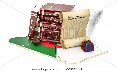 Constitution Of Algeria Concept, 3d Rendering Isolated On White Background
