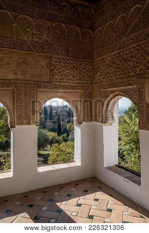 Viewpoint Of The Alhambra In Granada. Spain