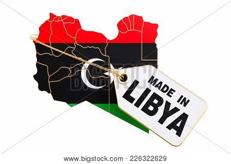 Made In Libya Concept, 3d Rendering Isolated On White Background