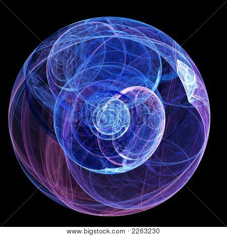 abstract magic sphere rays on dark background poster