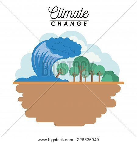 Effects Of Climate Change Vector Illustration Design