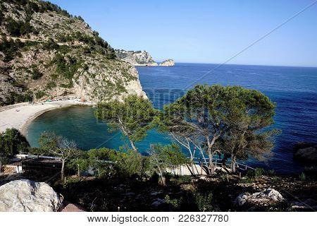 Great View On Beautiful Cala Granadella, Spain