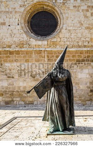 Palencia, Spain - March 24, 2016: View Of The Statue Entitled