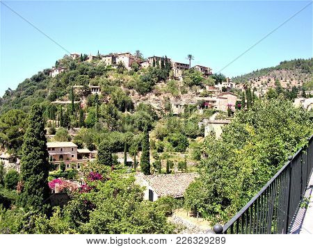 Idyllic Hill With Beautiful Houses In Valdemossa, Spain