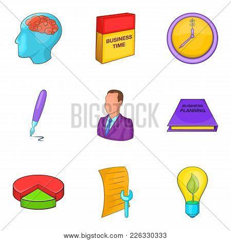 Personal Development Icons Set. Cartoon Set Of 9 Personal Development Vector Icons For Web Isolated