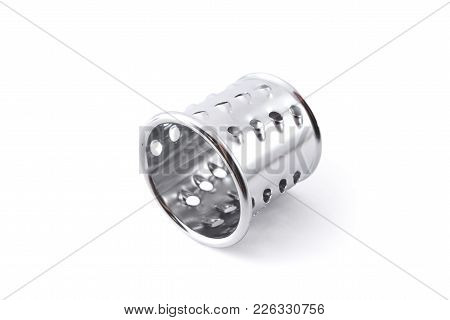The Grater Attachment For Grinder Isolated On White Background  For Any Purpose