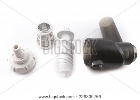 Auger Juicer Grinder In Parsing, Isolated On White Background  For Any Purpose