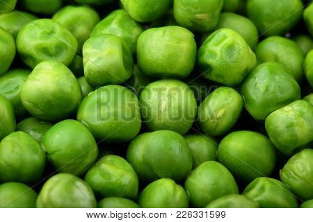 Fresh Green Peas Background Texture Top View.full Depth Focus.