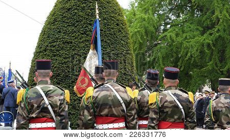 Strasbourg, France - May 8, 2017: Ceremony To Mark Western Allies World War Two Victory Armistice In