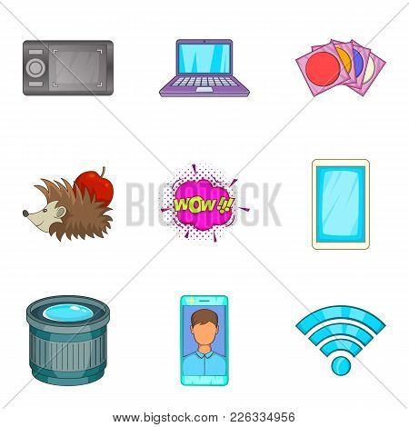 Imprint Icons Set. Cartoon Set Of 9 Imprint Vector Icons For Web Isolated On White Background