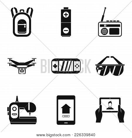 Pocket Gadget Icons Set. Simple Set Of 9 Pocket Gadget Vector Icons For Web Isolated On White Backgr