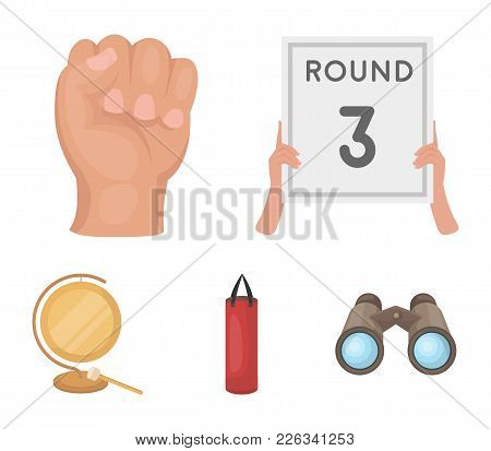 Boxing, Sport, Round, Hand .boxing Set Collection Icons In Cartoon Style Vector Symbol Stock Illustr