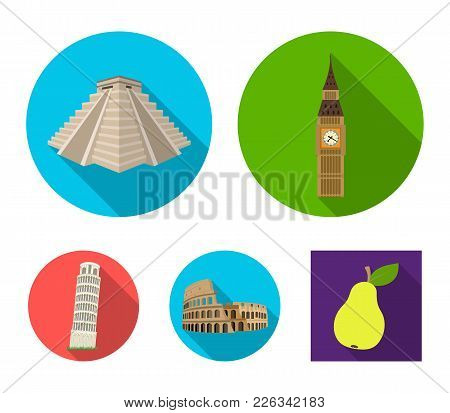 Building, Landmark, Bridge, Stone .countries Country Set Collection Icons In Flat Style Vector Symbo