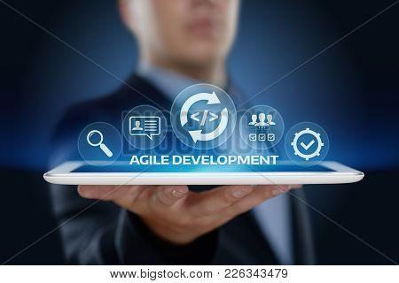 Agile Software Development Business Internet Techology Concept.