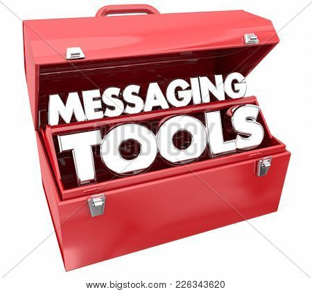 Messaging Tools Communication Toolbox 3d Illustration