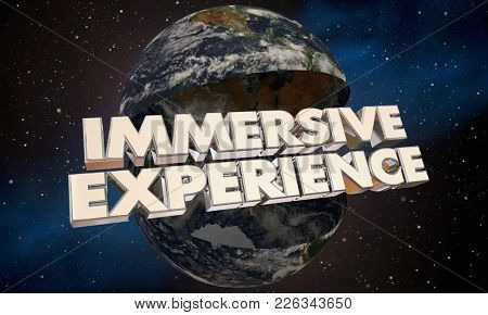 Immersive Experience Customer Cognition World Earth 3d Illustration
