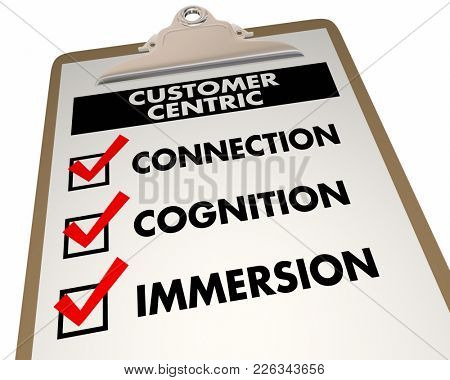 Customer Centric Connection Cognition Immersion 3d Illustration
