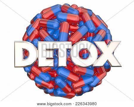 Detox Medicine Addiction Withdrawal 3d Illustration