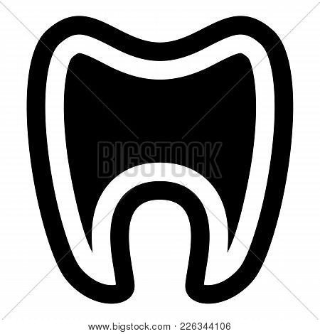 Tooth With Root Icon. Simple Illustration Of Tooth With Root Vector Icon For Web