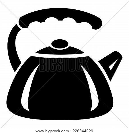 Metal Teapot Icon. Simple Illustration Of Metal Teapot Vector Icon For Web