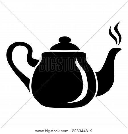 Porcelain Teapot Icon. Simple Illustration Of Porcelain Teapot Vector Icon For Web