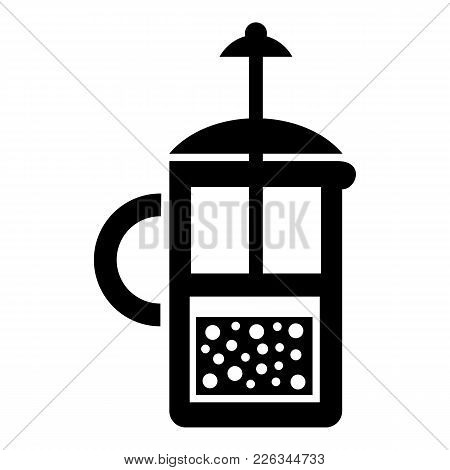 Press Kettle Icon. Simple Illustration Of Press Kettle Vector Icon For Web