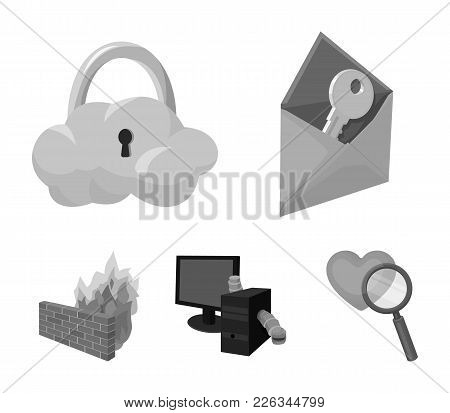 System, Internet, Connection, Code .hackers And Hacking Set Collection Icons In Monochrome Style Vec